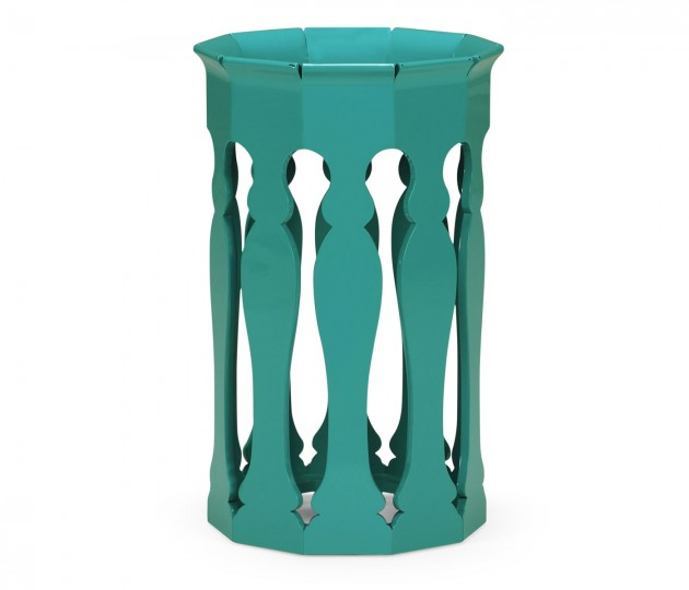 Moorish Lamp Table (Aruba Blue)