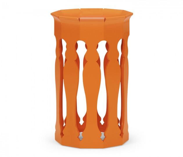 Moorish Lamp Table (Pumpkin Cream)