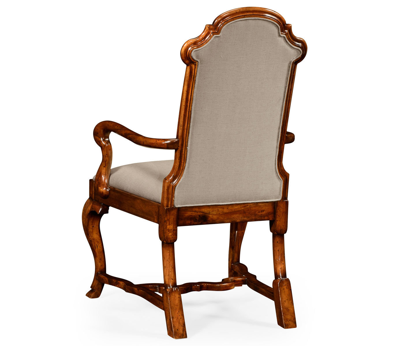 Queen Anne Style Dining or Fireside Chair (Arm)