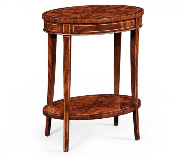 Mahogany Oval Lamp Table