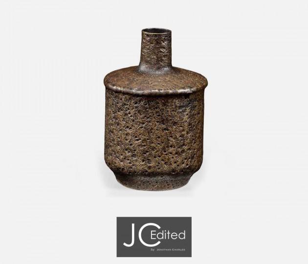Small Textured Brass Vase