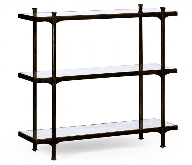 �glomis� & Bronze Iron Three-Tier �tag�re