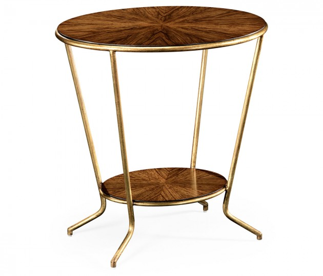 Argentinian Walnut Veneered Oval Side Table