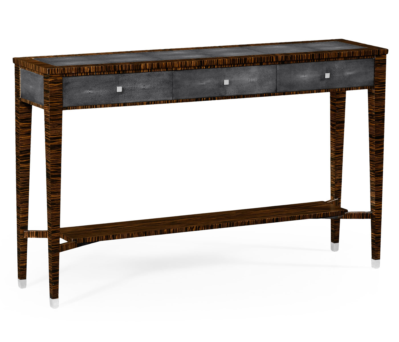 Macassar ebony anthracite shagreen console faux macassar ebony anthracite shagreen console geotapseo Image collections