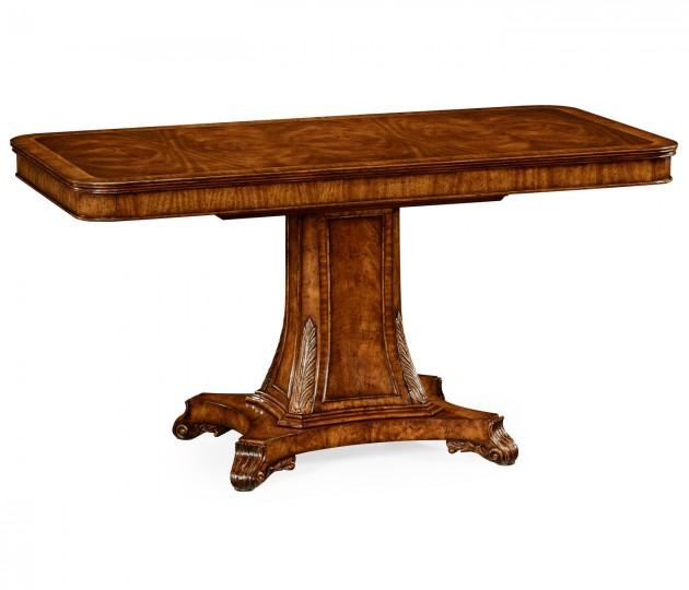 Regency Rectangular Centre Table on Pedestal Base (Crotch Walnut)