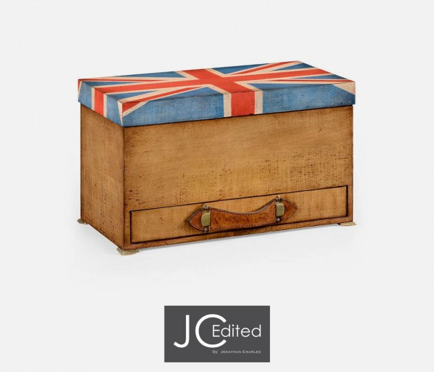 Union Jack Rectangular Box Painted
