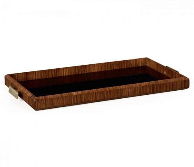 Art Deco rectangular tray with brass (High lustre)