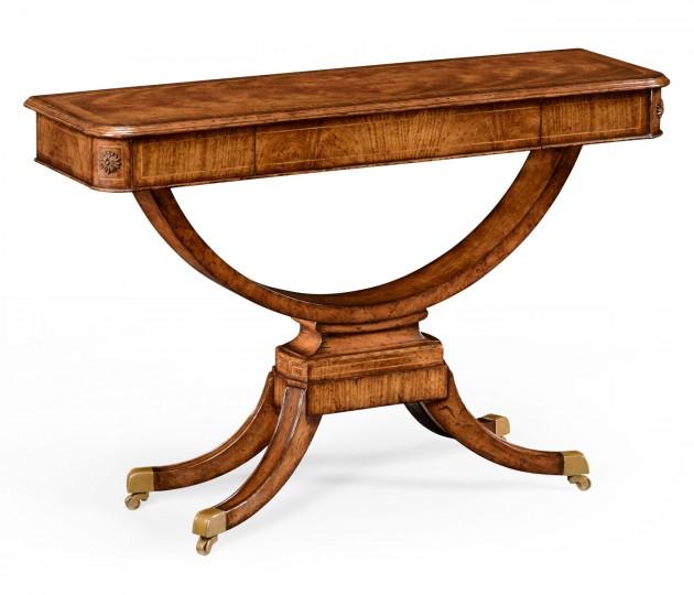 Biedermeier Style Crotch Walnut Sofa or Side Table