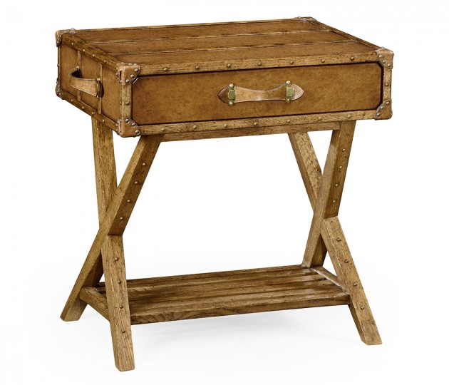 Travel Trunk Style Side Table