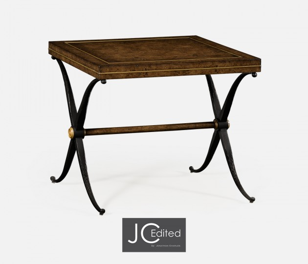 Small Hammered Iron Side Table