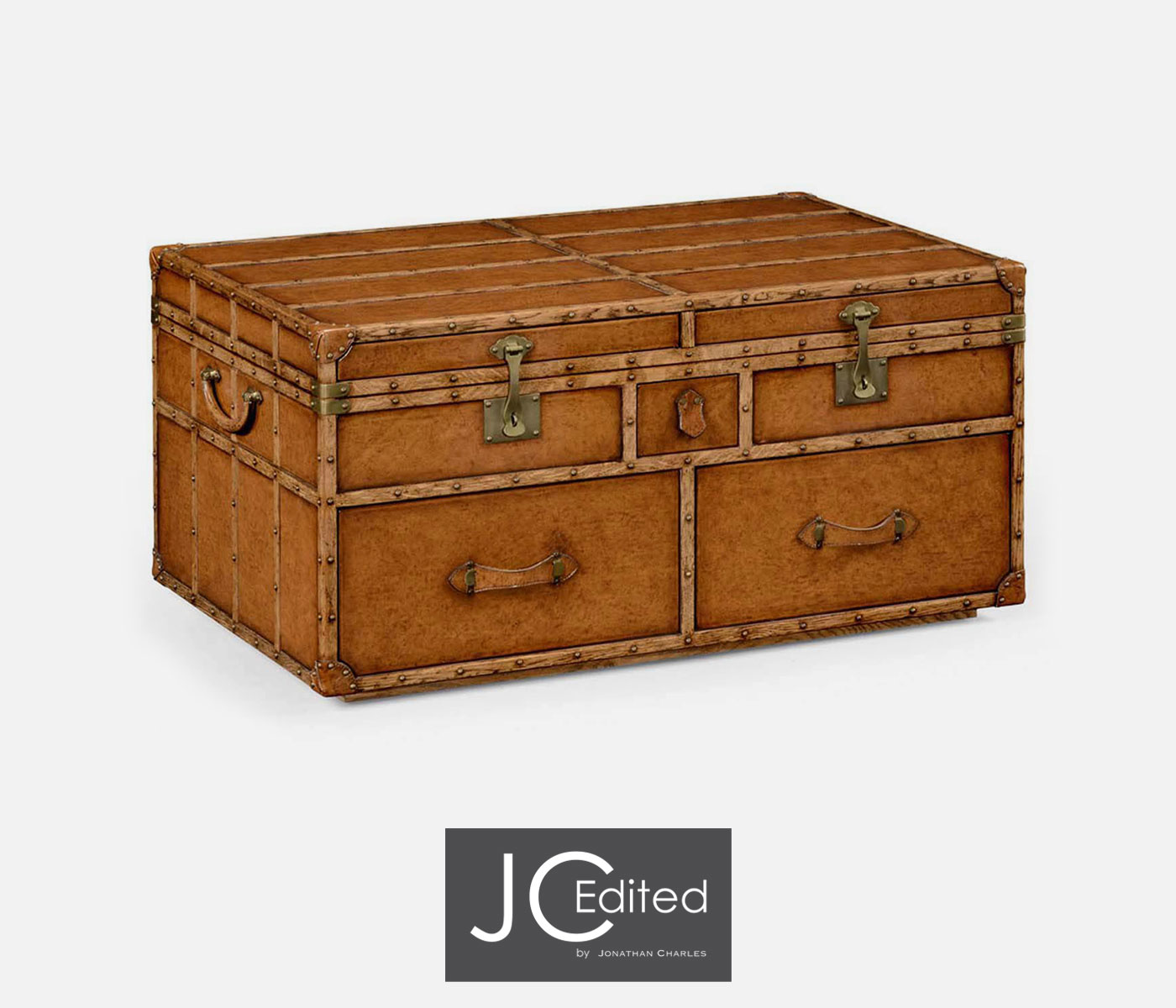 Travel Trunk Style Coffee Games Table