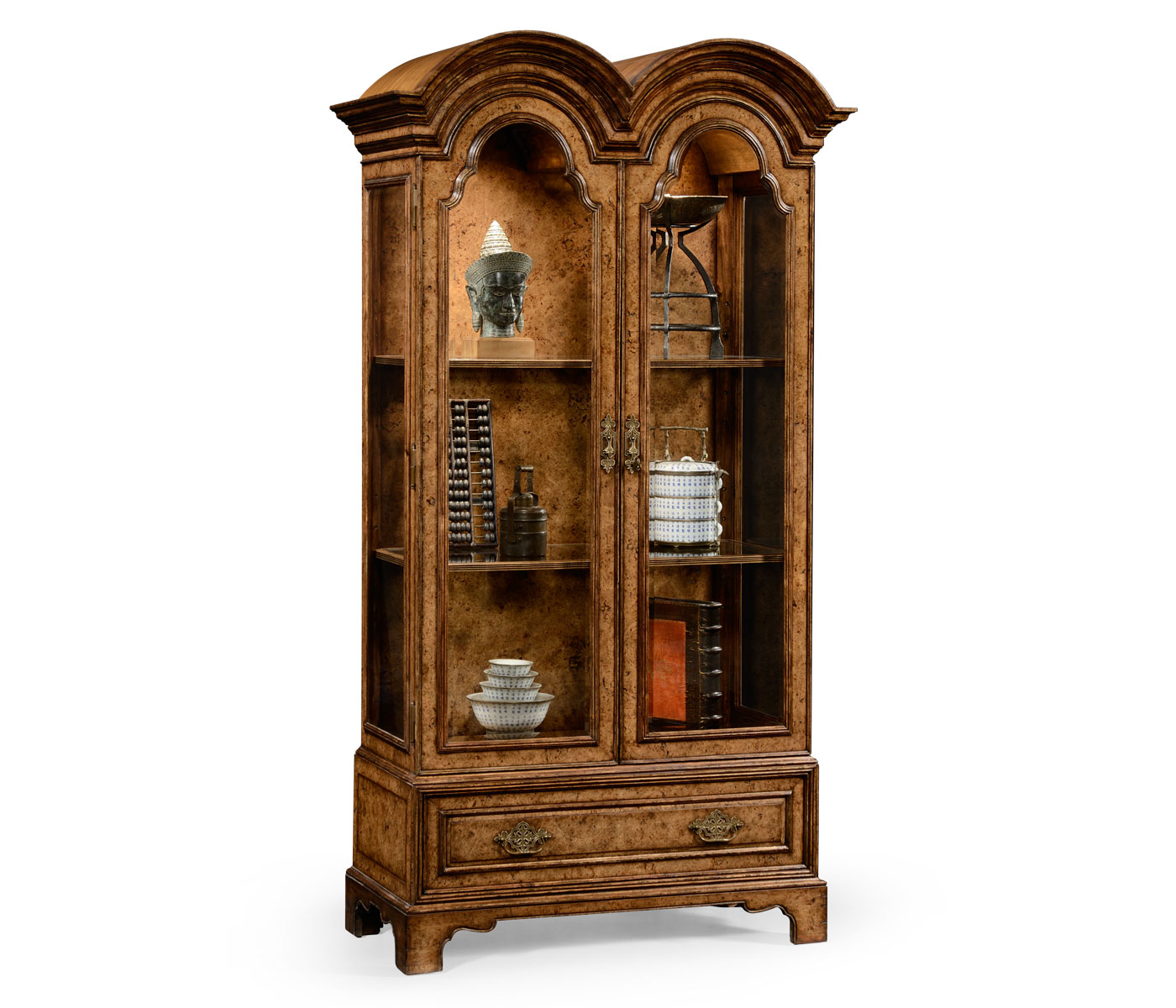 Anne Pollard Veneer Bookcase With Glazed Doors
