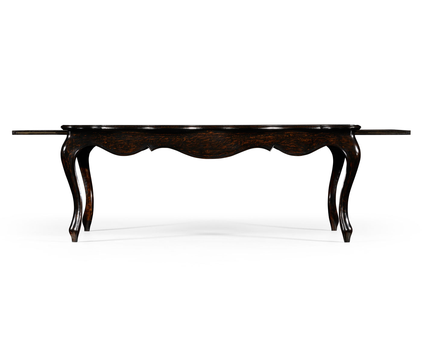 French Coffee Table Dimensions: French Style Black Finish Coffee Table Parquet Top