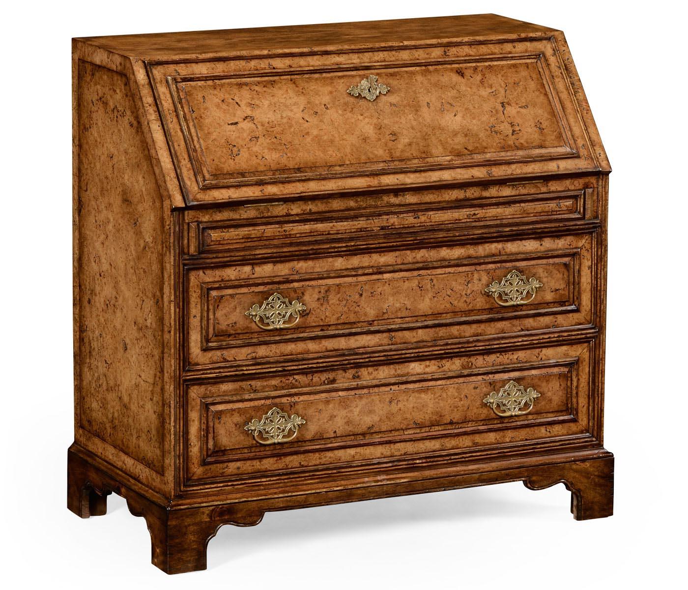 queen anne pollard veneer bureau cabinet base. Black Bedroom Furniture Sets. Home Design Ideas