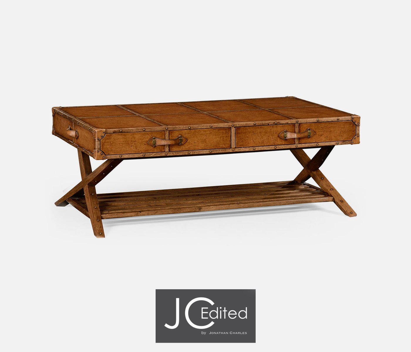 Travel trunk style coffee table Trunk coffee table