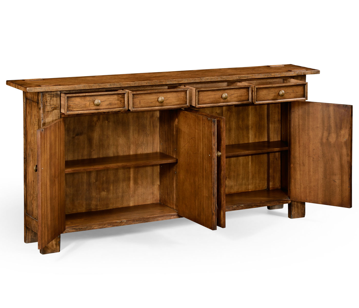 country living style walnut sideboard. Black Bedroom Furniture Sets. Home Design Ideas
