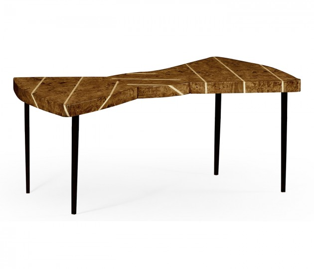 Burl Oak Bowtie Coffee Table