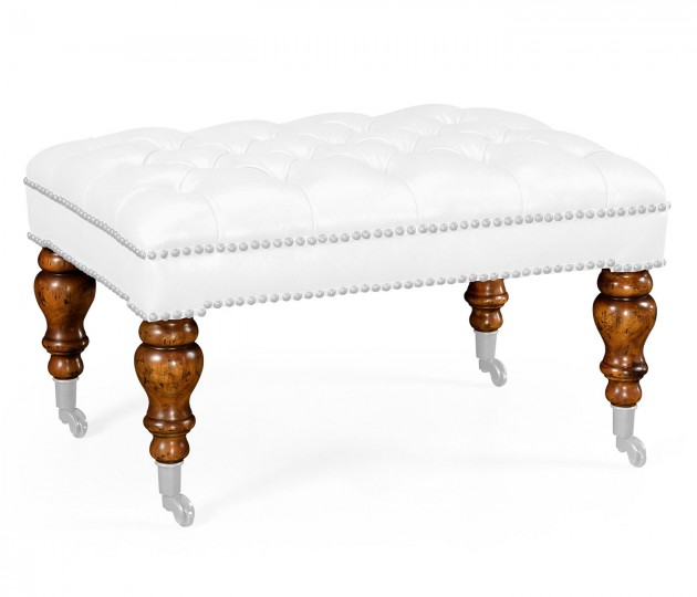 Large Chesterfield Style Footstool/Ottoman