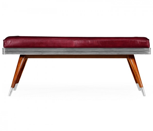 50's Americana Leather Bench