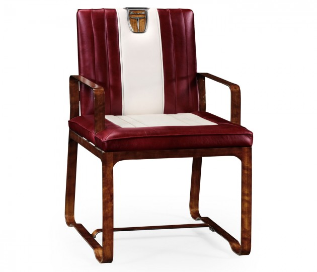 50's Americana Leather Easy Chair