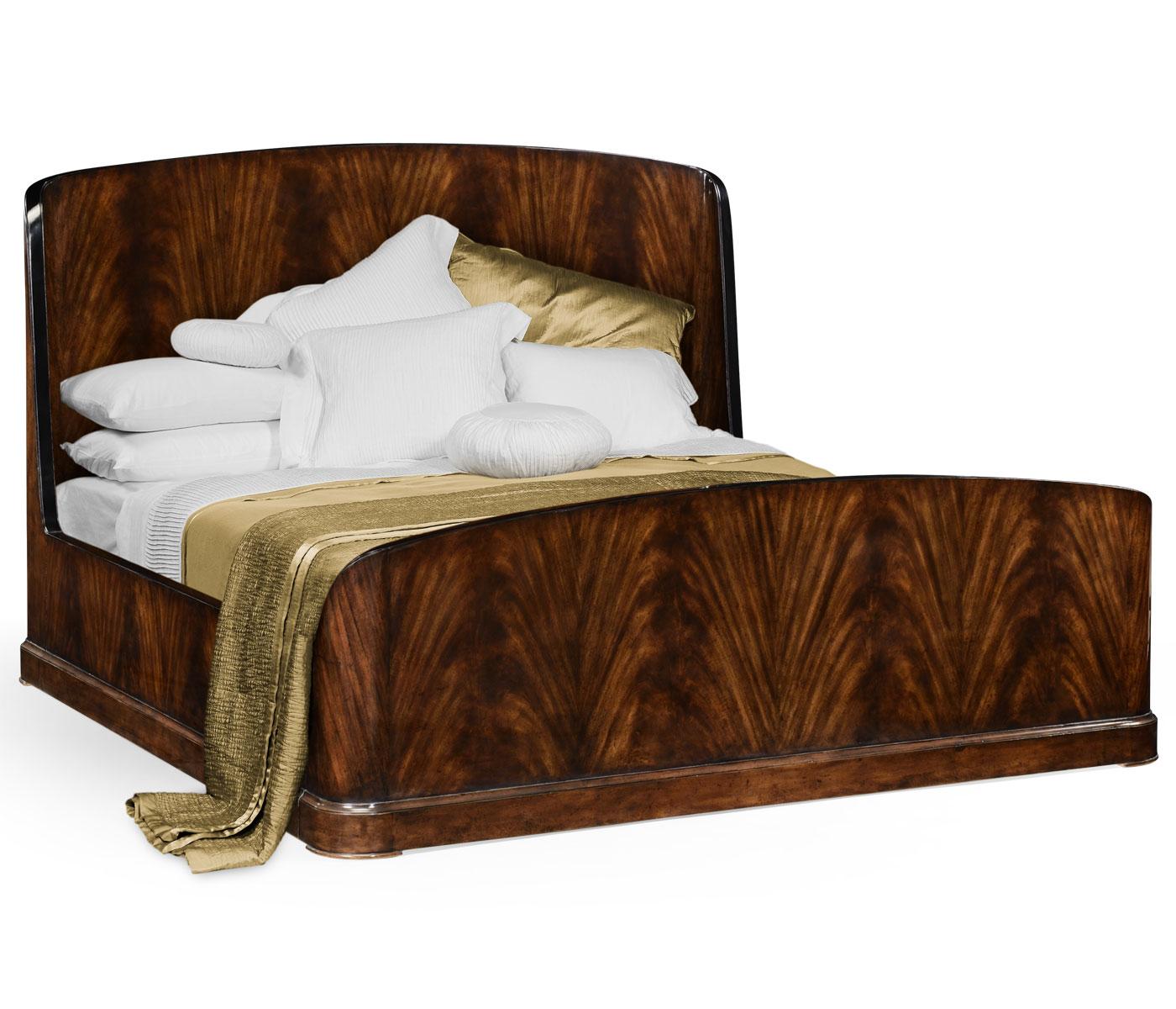 Uk Queen Biedermeier Mahogany Bed