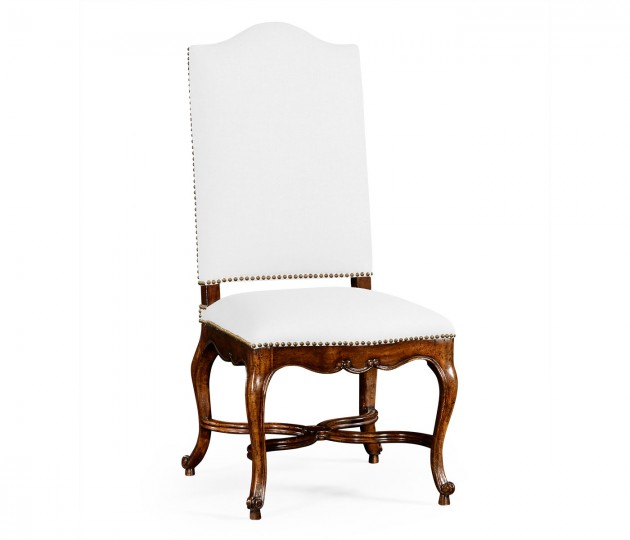 French Baronial Style Country Side Chair, Upholstered in COM