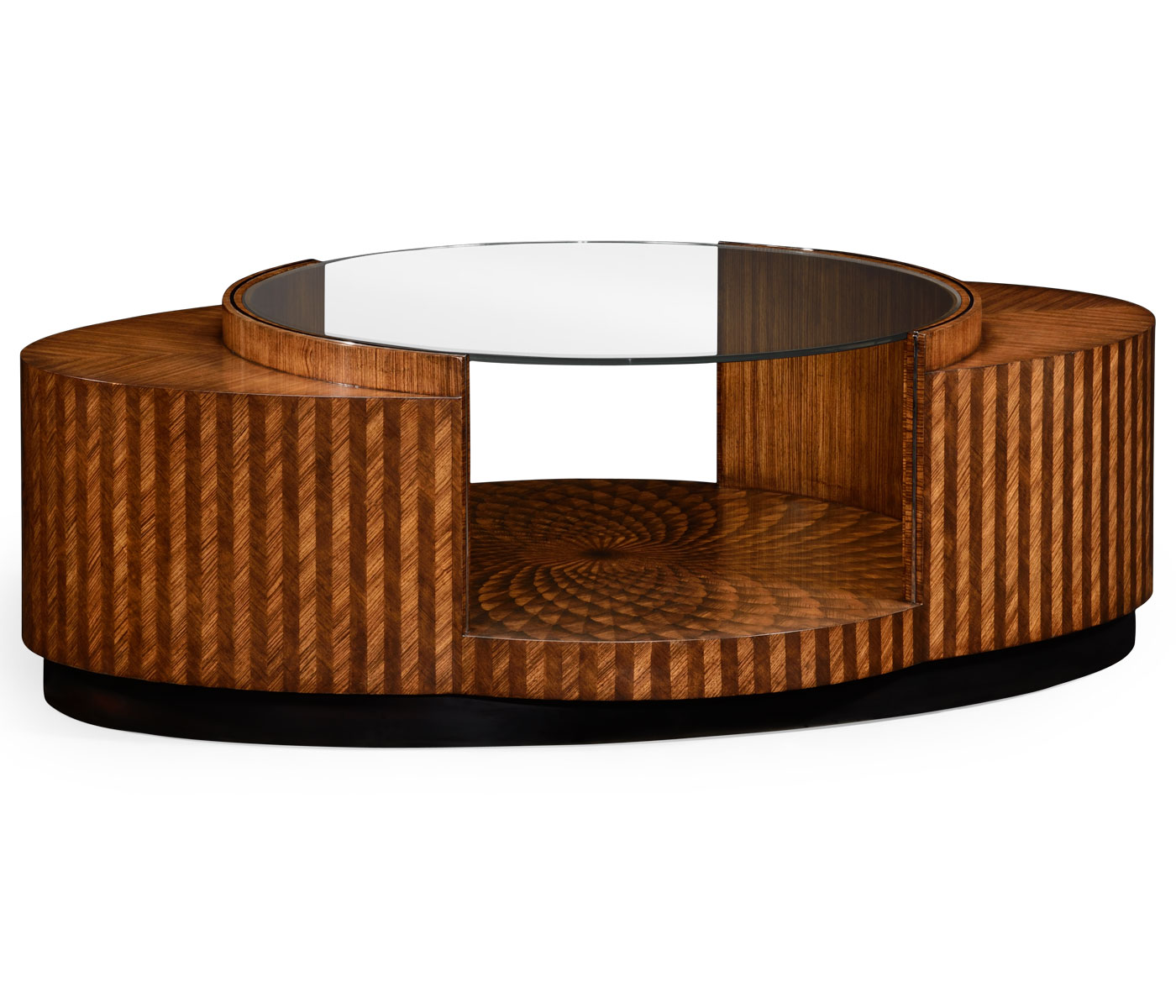 Inlay coffee table feather inlay coffee table geotapseo Choice Image