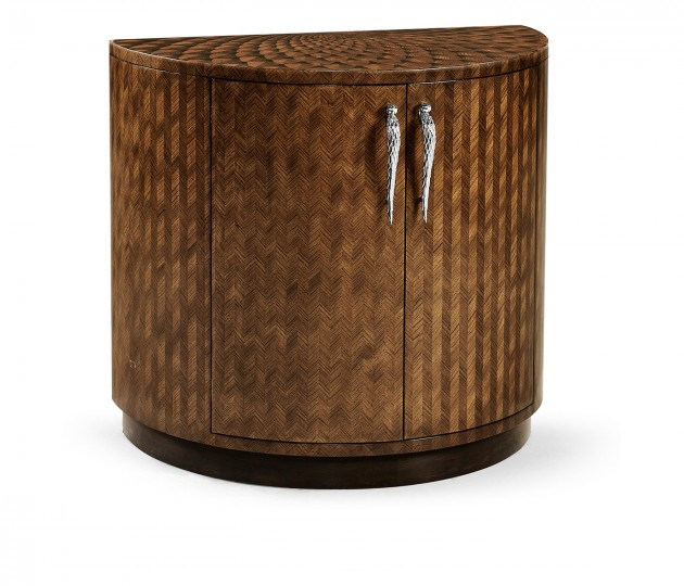 Feather Inlay Cocktail Cabinet