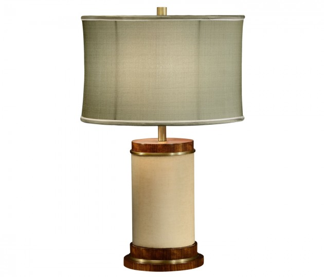 Ivory Finish Hyedua Circular Table Lamp