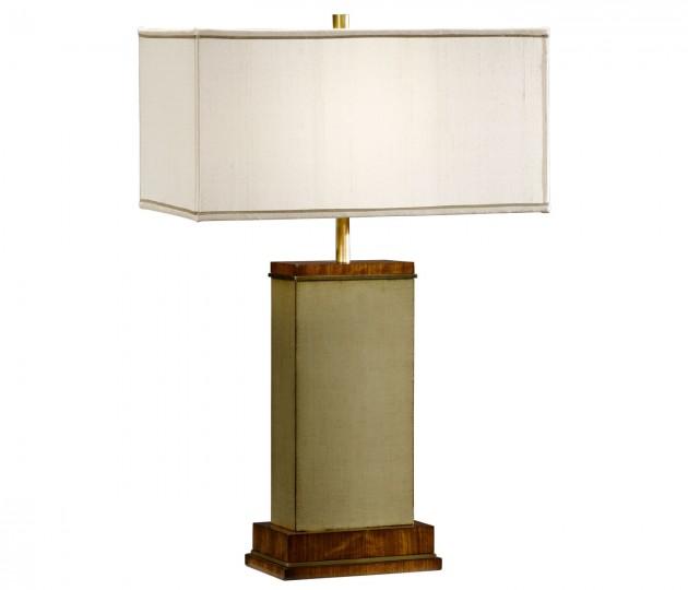 Sage Finish Hyedua Rectangular Table Lamp