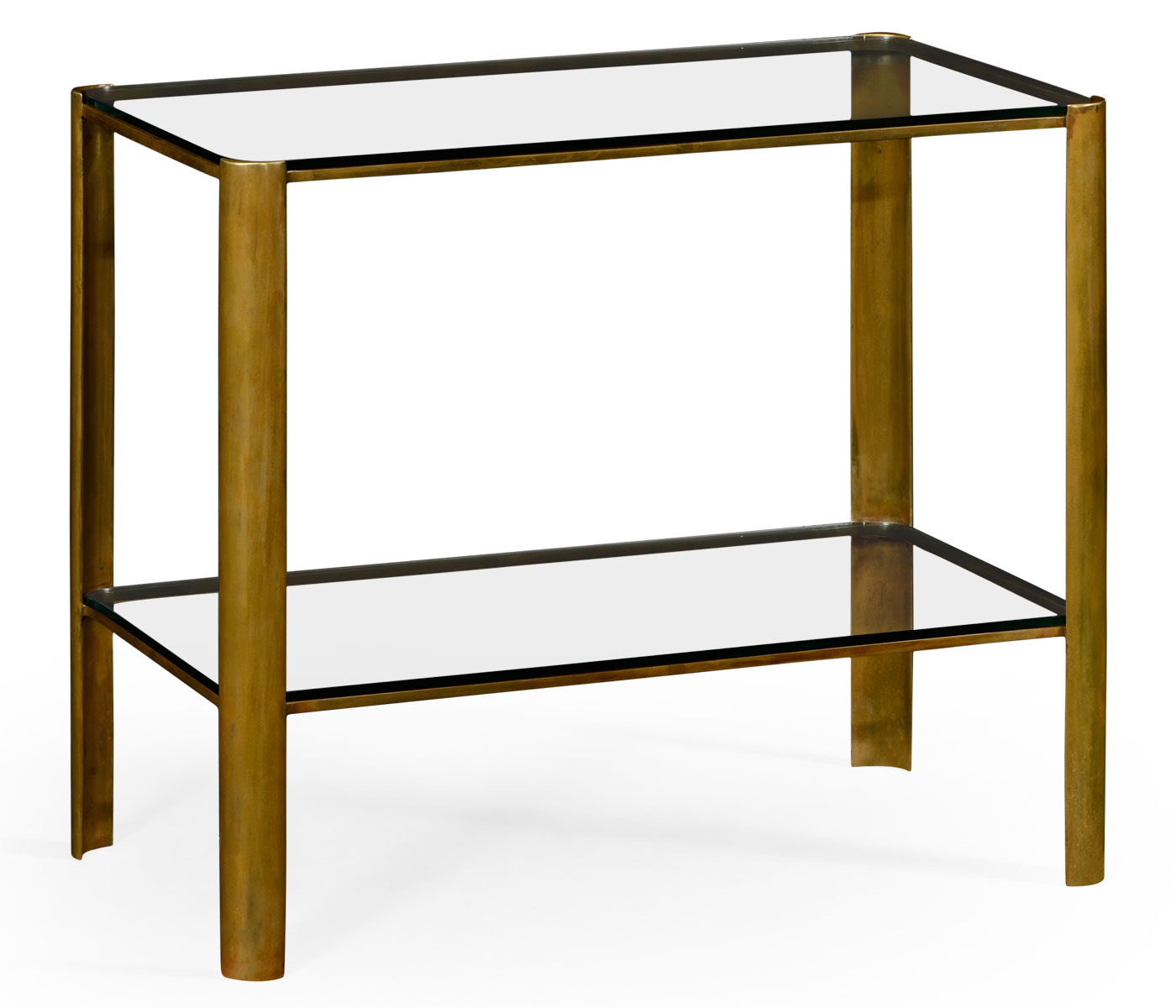 Brass U0026 Glass End Table