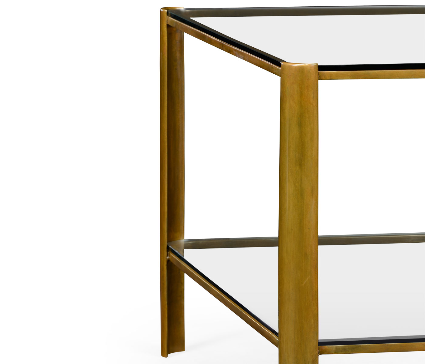Small Brass And Glass Coffee Tables: Brass & Glass Coffee Table