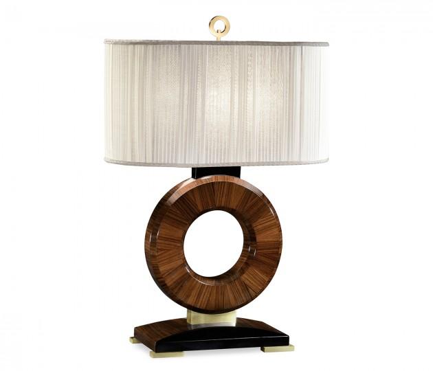 Porthole Rosewood Table Lamp