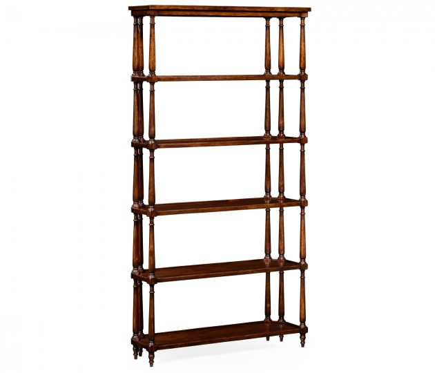Five Tier �tag�re with Triple Column Supports