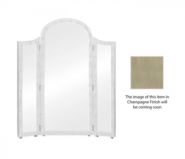 Opera Art Deco Style Full Length Triple Dressing Mirror with Brass Detail