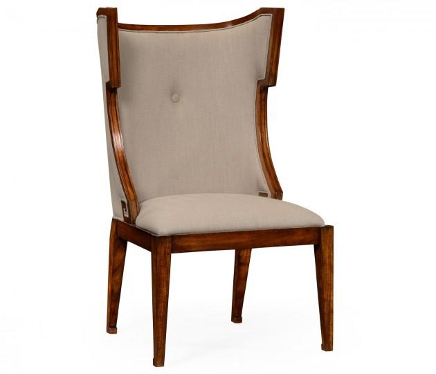 Greek Key Design Biedermeier Walnut Side Chair
