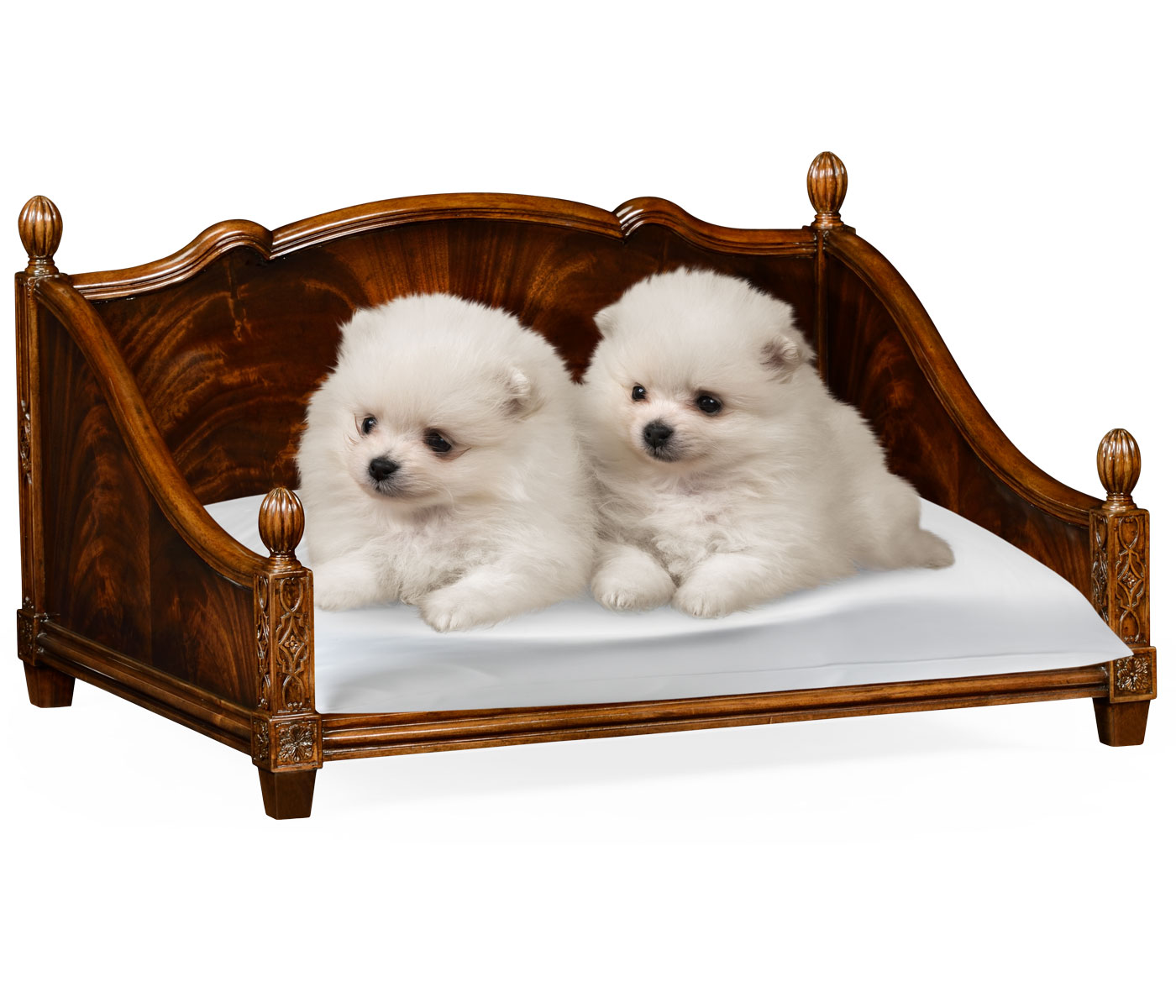 Rectangular four poster mahogany dog bed for Four poster dog bed for sale