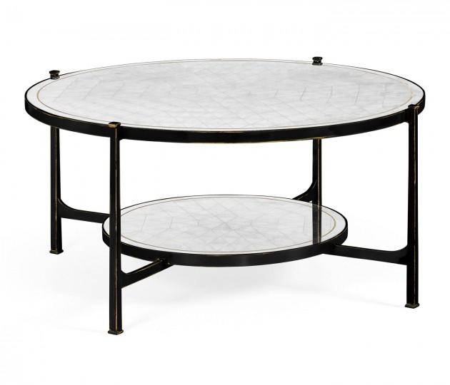 �glomis� Glass Bronze Coffee Table