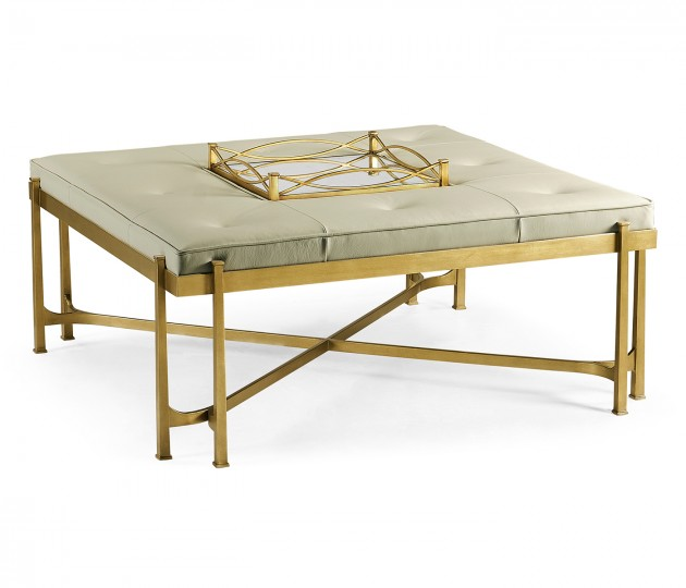 �glomis� and Gilded Iron Cocktail Ottoman