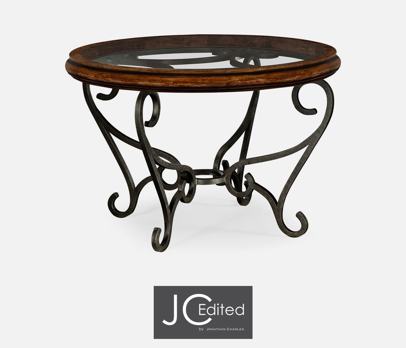 Rustic end tables with wrought iron coffee tables simple for Glass top coffee table with wrought iron legs