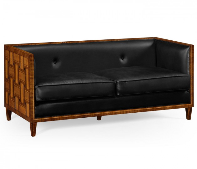 2.5 Seater Cosmo Sofa, Upholstered in Black Leather
