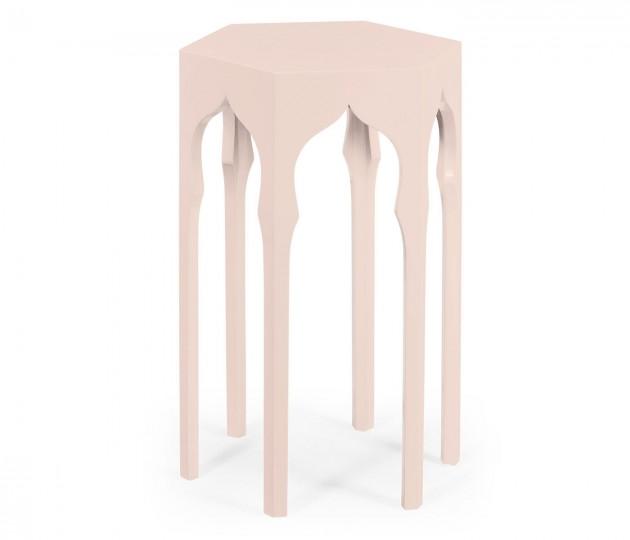 Hexagon Lamp Table (Ballet Slipper)