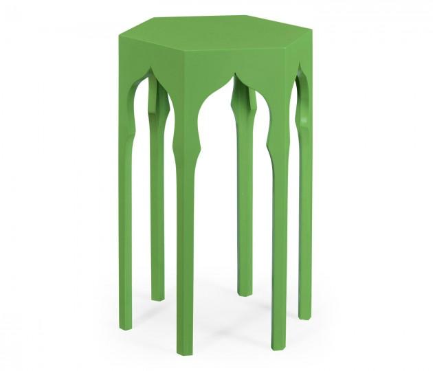 Hexagon Lamp Table (Wildwood Green)