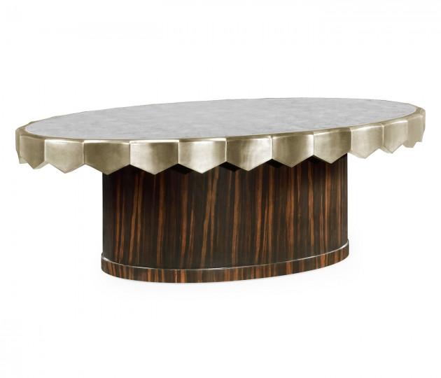 Églomisé Oval Cocktail Table