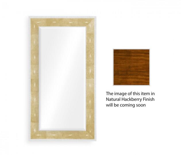 Faux Ivory Shagreen Floor Mirror