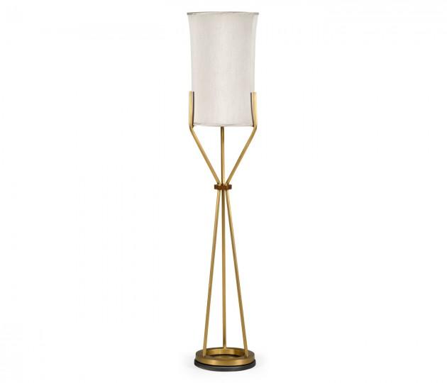 Circular Brass Floor Lamp