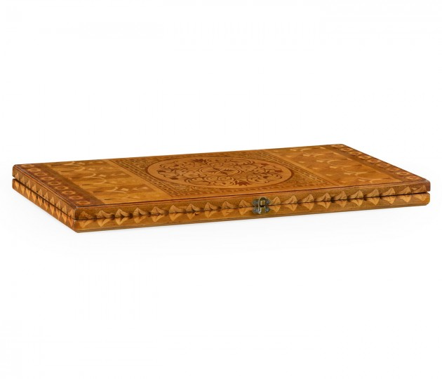 Floral Marquetry Backgammon Board