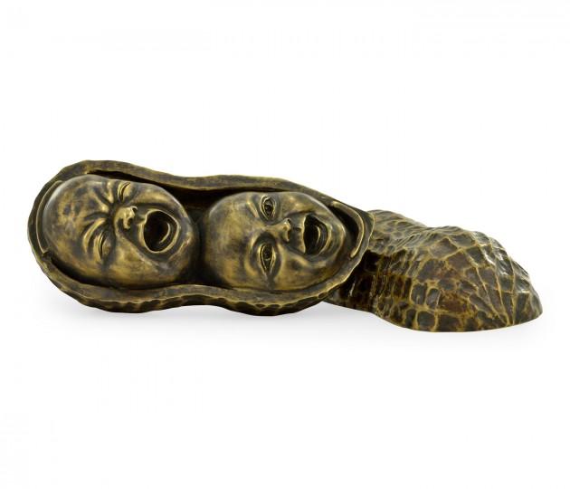 Antique Dark Bronze Peanut Shell