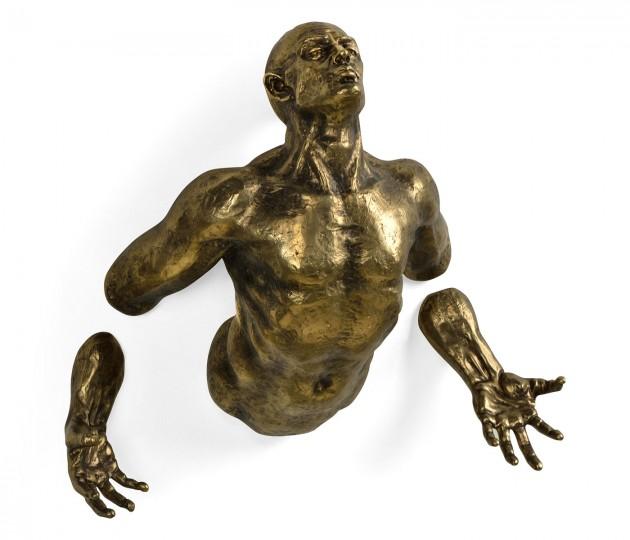 Anitque Brass Floating Man