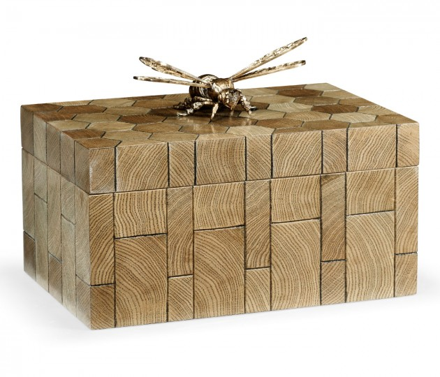 Rectangular Oyster Honeycomb Oak Bee Box